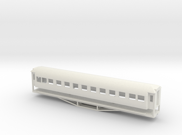 56ft 1st Class SI, New Zealand, (S Scale, 1:64) in White Strong & Flexible