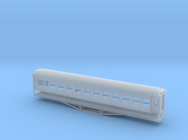 56ft 1st Class SI, New Zealand, (N Scale, 1:160) in Frosted Ultra Detail