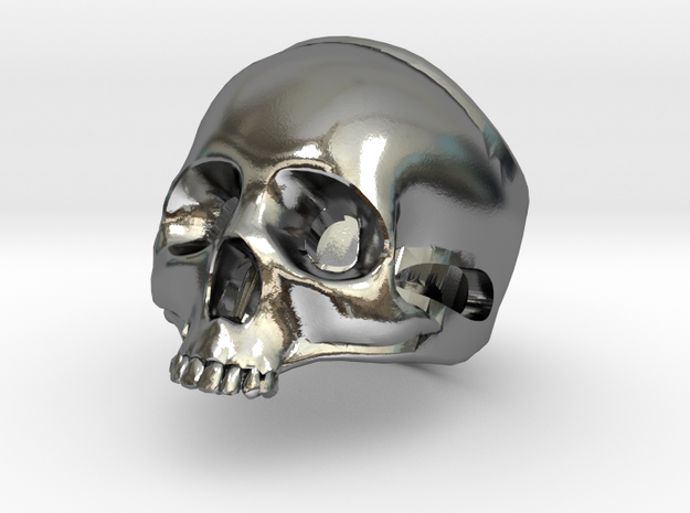 """The """"Ct Skull Ring"""" in Polished Silver"""
