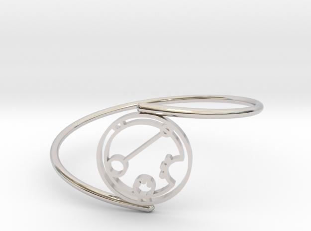 Darian - Bracelet Thin Spiral in Rhodium Plated Brass