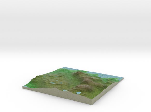 Terrafab generated model Wed Apr 29 2015 10:14:53  in Full Color Sandstone