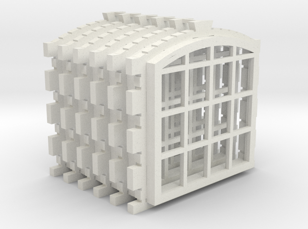 Engine Shed 6 Window Set Master in White Natural Versatile Plastic