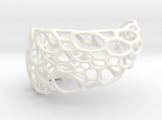 Spiral Cuff (sz S/M) 3d printed in stainless steel