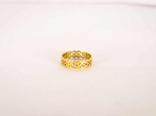 Celtic Ring Size 6 in Polished Brass