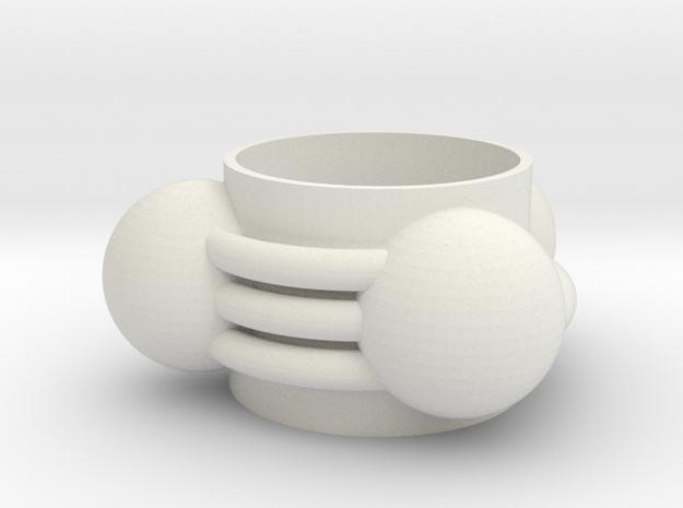hydrogen cyanide Ring(13mm) in White Natural Versatile Plastic