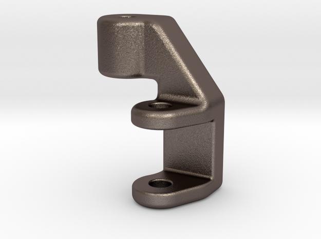 Brake Foot peg Lowering bracket for KTM 390 Duke in Polished Bronzed Silver Steel