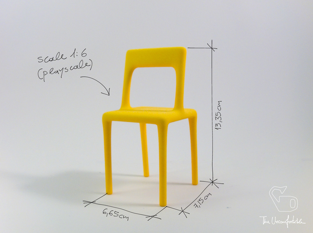 Uncomfortable chair No1 - 1:6 scale