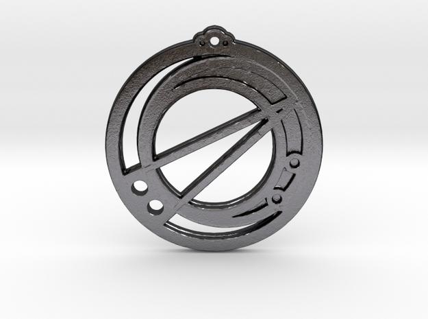 Scorpio in Polished Grey Steel