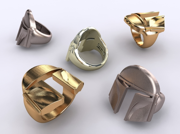 Boba Fett ring in Polished Bronzed Silver Steel