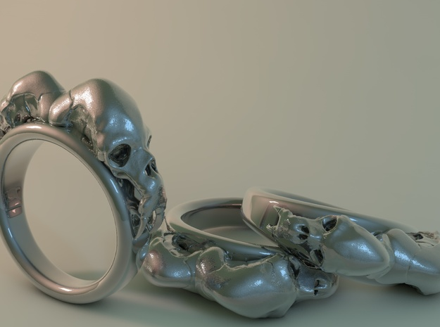 Animal-Skull-Ring 19,5mm inside diameter 3d printed
