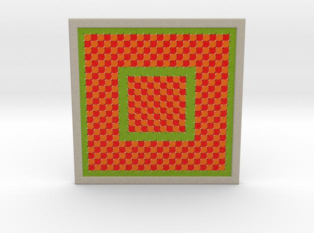 0176 Optical Illusion picture A (10cm) #002 in Full Color Sandstone