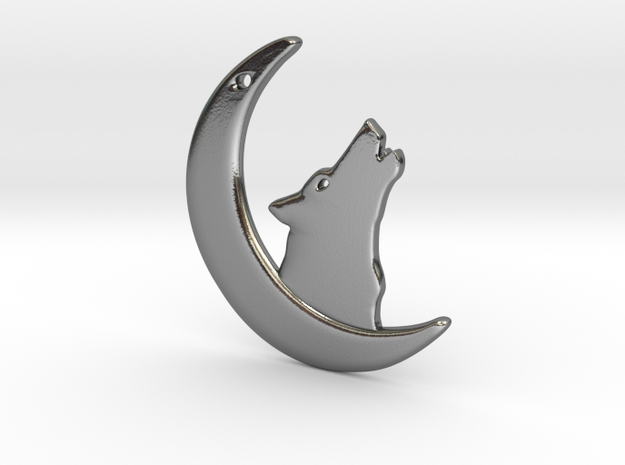 WolfMoon Earring in Polished Silver