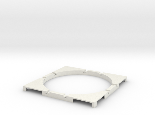 T-165-wagon-turntable-60d-100-corners-flat-1a in White Natural Versatile Plastic