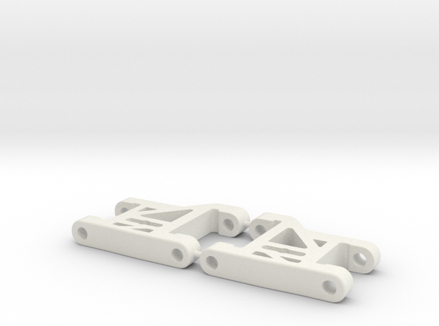 RC10DS Front Arms (shorter width) (longer wheelbas in White Natural Versatile Plastic