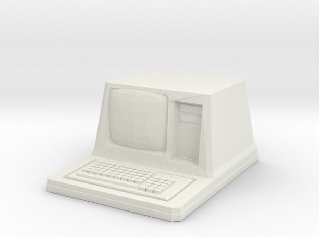 Old'ish Sci-Fi computer in White Natural Versatile Plastic