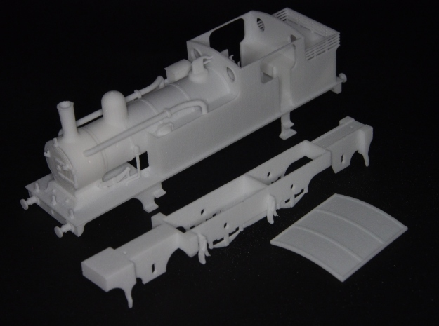 G.E.R M15 class (later LNER F4) 2.4.2 tank loco in White Natural Versatile Plastic
