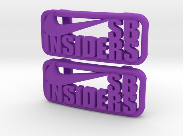 """SB Insiders"" Lacelocks (1 pair) in Purple Processed Versatile Plastic"
