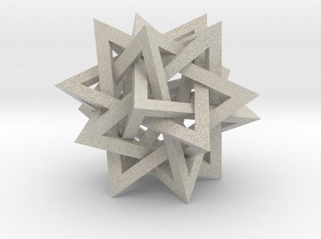 Tetrahedron 5 Compound, quadrilateral struts in Natural Sandstone