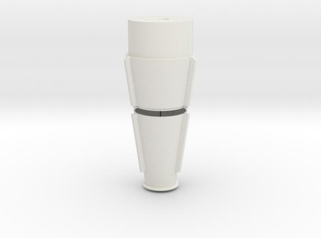 JP Rocket Top Fins 2 Piece in White Strong & Flexible