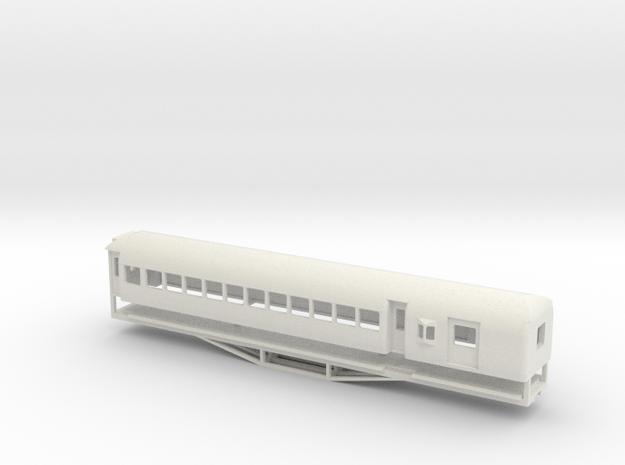 AL Car-van, New Zealand, (OO Scale, 1:76) in White Natural Versatile Plastic