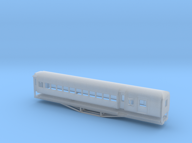 AL Car-van, New Zealand, (N Scale, 1:160) in Smooth Fine Detail Plastic
