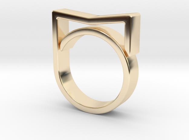 Adjustable ring for men. Model 3. in 14K Yellow Gold