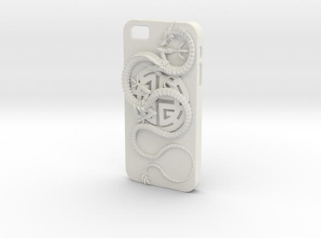 iPhone5s Case - Lu Prosperity Symbol with Dragon in White Natural Versatile Plastic