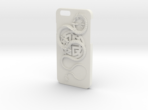 iPhone6 Case - Lu Prosperity Symbol with Dragon in White Natural Versatile Plastic