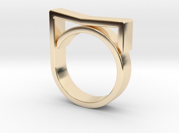 Adjustable ring for men. Model 7. in 14K Yellow Gold
