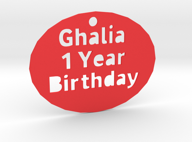 Ghalia in Red Strong & Flexible Polished