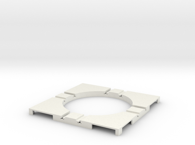 T-12-wagon-turntable-48d-100-corners-flat-1a in White Natural Versatile Plastic