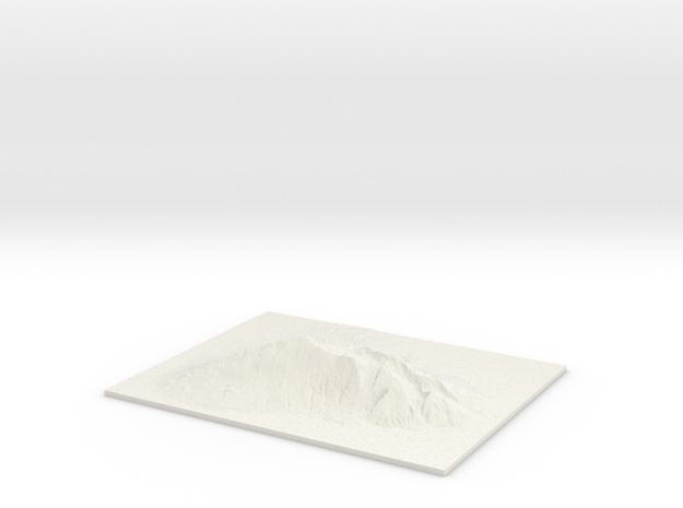 "Haleakala, 2.5x, 8"" in White Strong & Flexible"