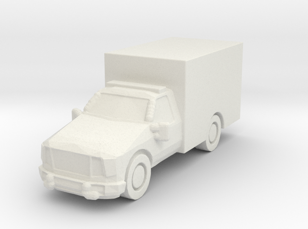 Ford ambulance 1:285 scale in White Natural Versatile Plastic: 6mm