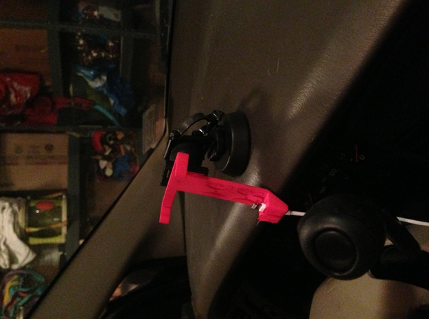 Hcase Car Mount with Lightning connector holder 3d printed