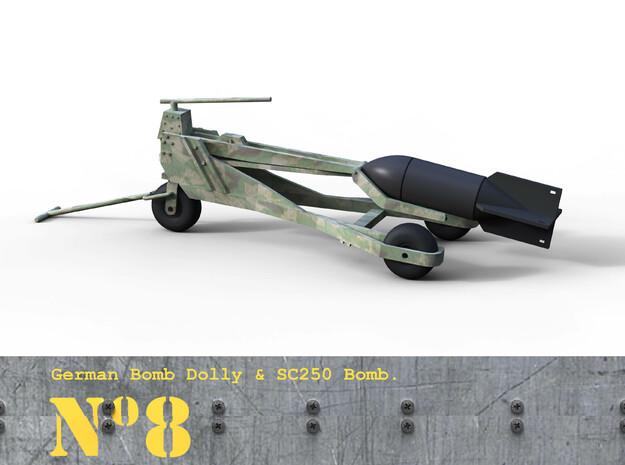 1/18th German Bomb Dolly.  3d printed