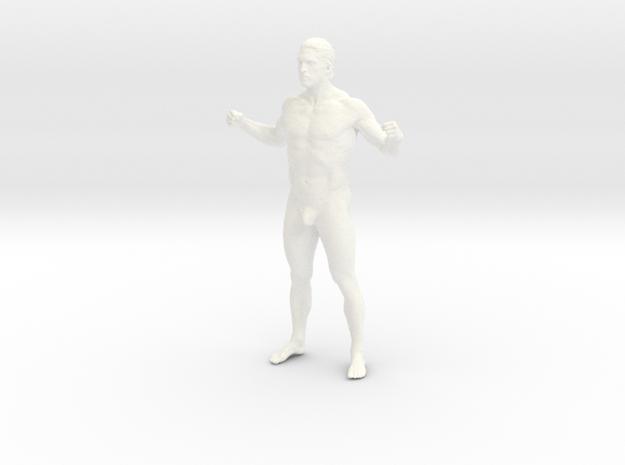 Man body in 8cm Passed in White Processed Versatile Plastic