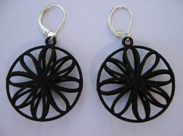 Double Viviani Earrings 2 3d printed