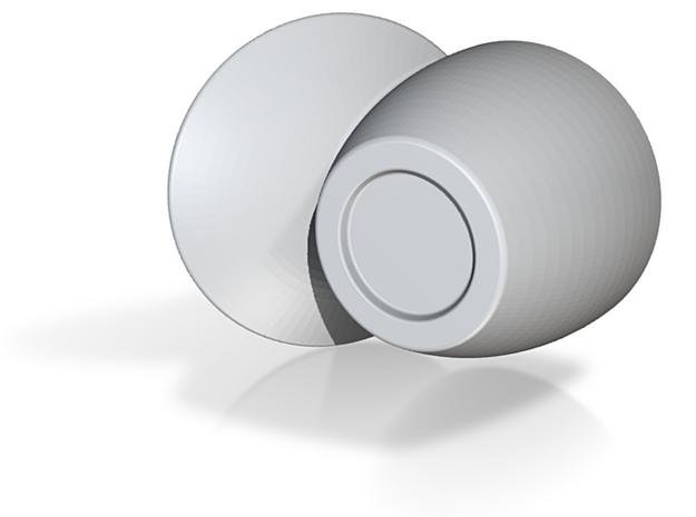 Satellite dish cup, espresso size 3d printed