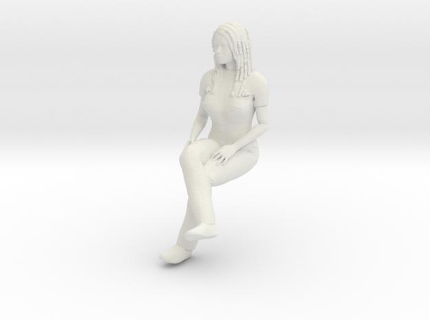 Newgirl-sitting 1/24 in White Natural Versatile Plastic