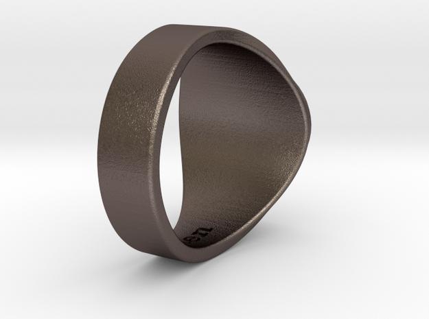 Muperball Wayne Ring in Polished Bronzed Silver Steel
