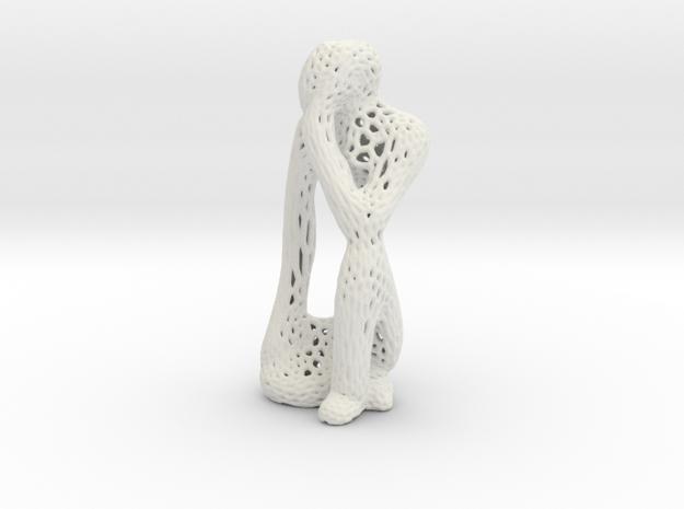 Thinking Man Vornoi style in White Natural Versatile Plastic
