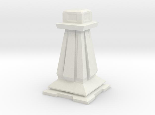 Pawn - Mini Chess Piece in White Strong & Flexible