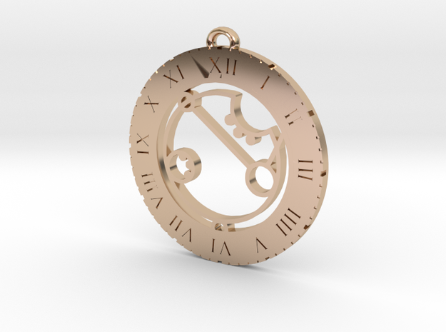 April - Pendant in 14k Rose Gold Plated Brass