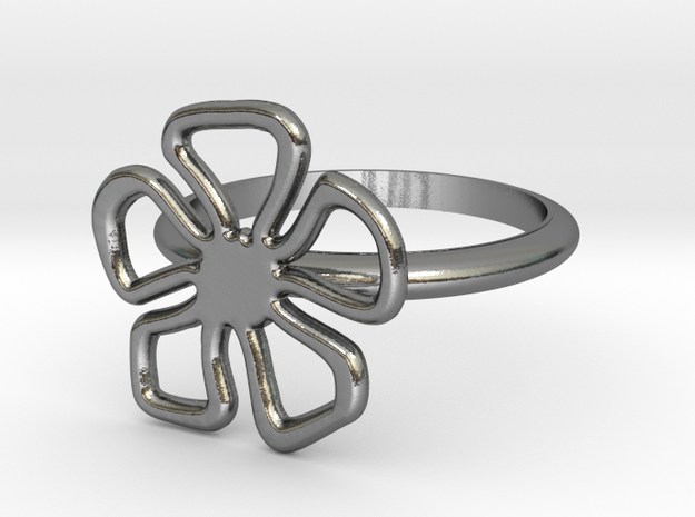 Daisy Ring SZ 6.5 - Test - V1 in Polished Silver