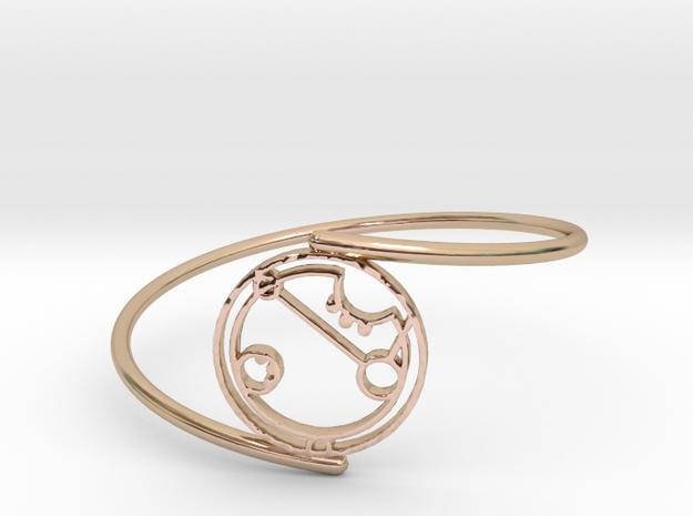 April - Bracelet Thin Spiral in 14k Rose Gold Plated Brass