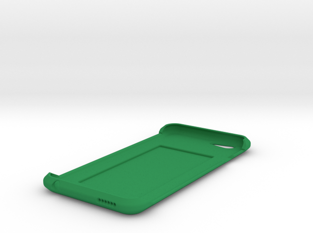 iPhone 6 Case w/ Hidden Card Slot in Green Strong & Flexible Polished
