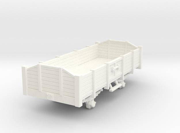 Carro aperto - open wagon H0m in White Processed Versatile Plastic