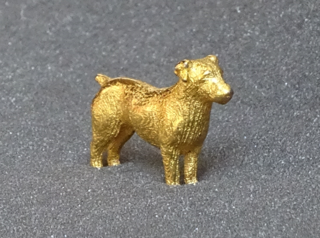 Jack Russell Terrier - Small in Matte Gold Steel