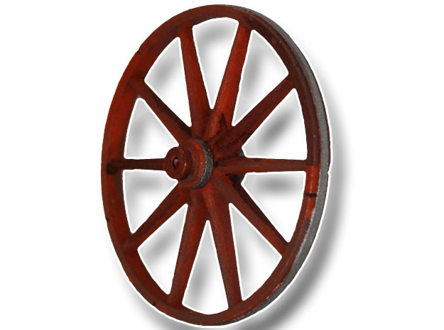 Great Rebellion Wooden Cartwheel in White Processed Versatile Plastic