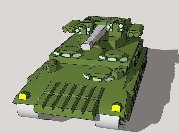 6mm T-15 Armata IFV (4pcs) in Smooth Fine Detail Plastic